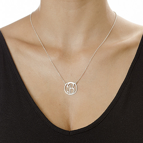 Sterling Silver Initial Pendant - 1