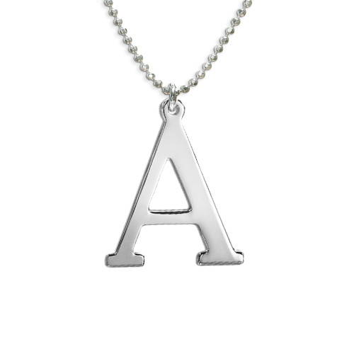 Sterling Silver Initials Necklace