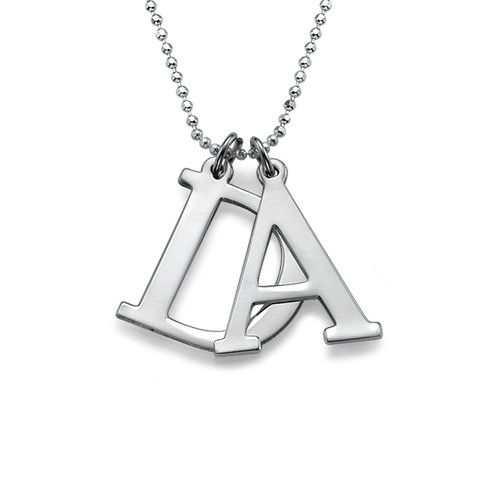 Sterling Silver Initials Necklace - 2