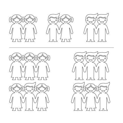 Sterling Silver Kids Holding Hands Bracelet - 4
