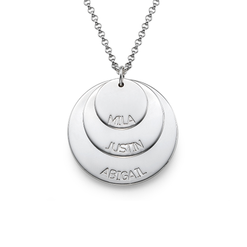 Sterling Silver Mum Necklace with Names
