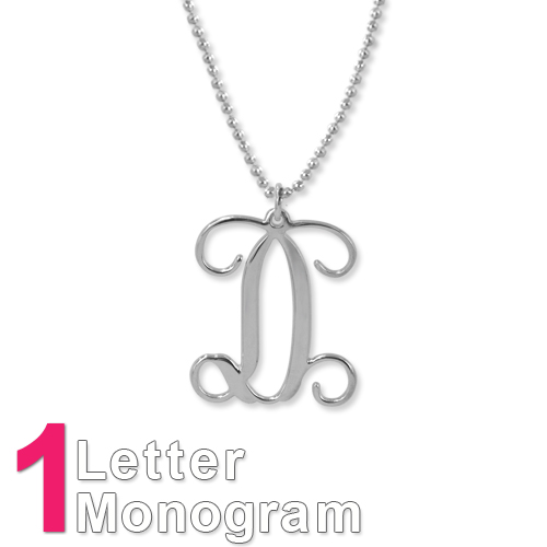 Sterling Silver Monogram Necklace - 1