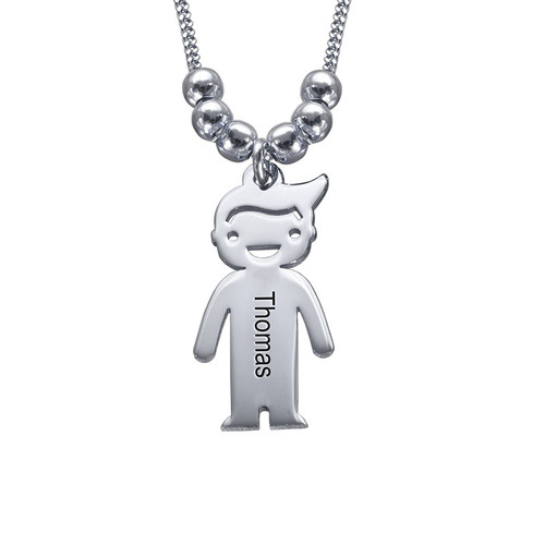 Mother's Necklace with Children Charms - 2