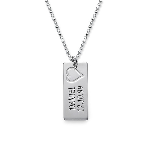 Sterling Silver Name Bar Necklace - 1