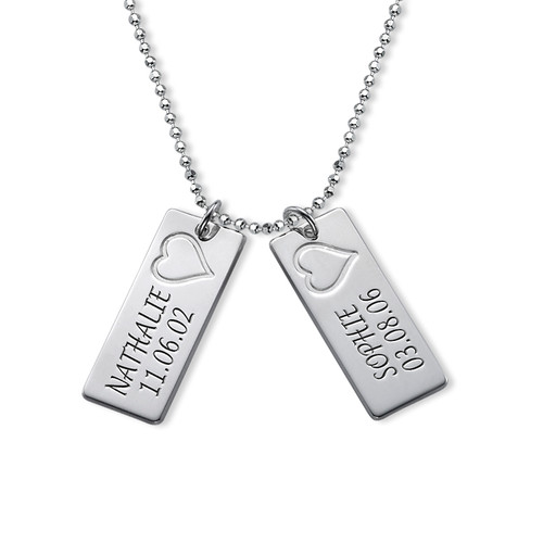 Sterling Silver Name Bar Necklace - 2