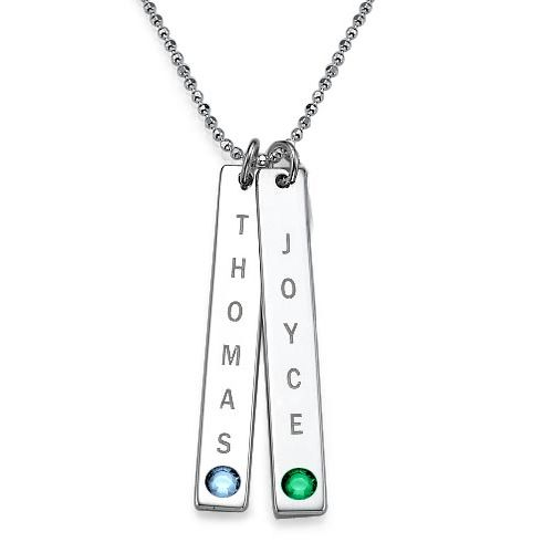Personalised Bar of Love Necklace with Swarovski