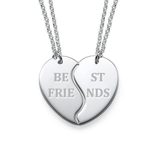 Sterling Silver Personalised Best Friends Necklaces