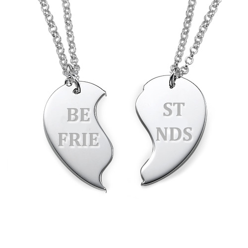 Sterling Silver Personalised Best Friends Necklaces - 1