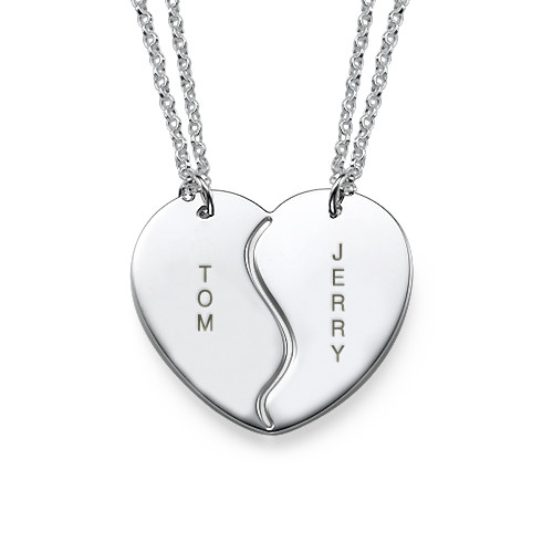 Sterling Silver Personalised Best Friends Necklaces - 3