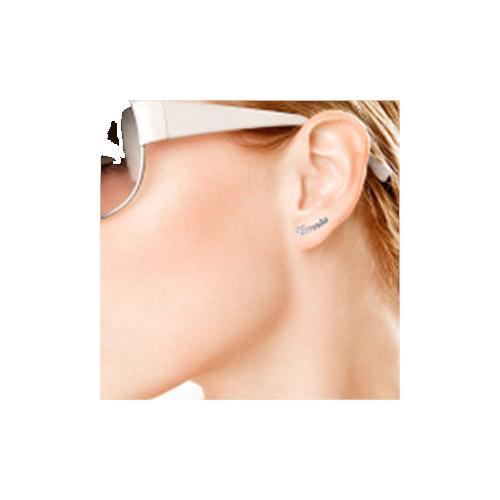 Sterling Silver Personalised Name Stud Earring - 1