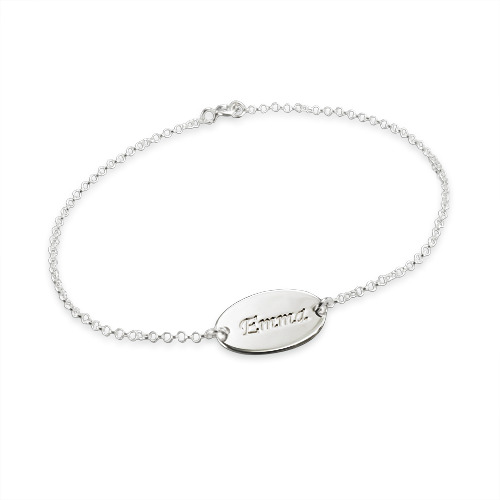 Sterling Silver Personalised Baby Name Bracelet - 1