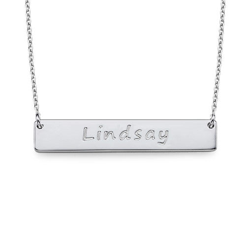 Sterling Silver Personalised Nameplate Necklace