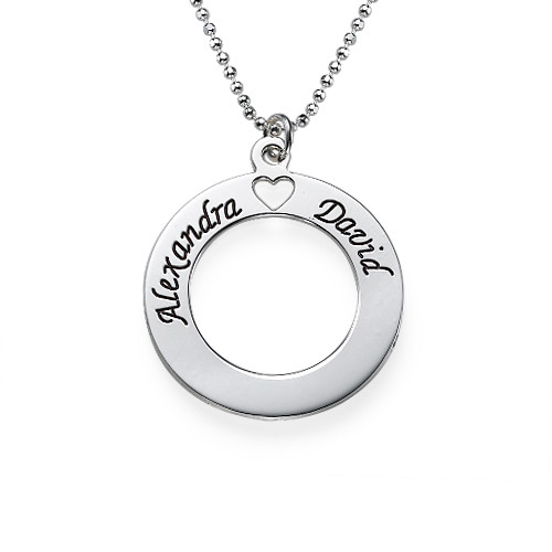 Sterling Silver personalised Circle Necklace