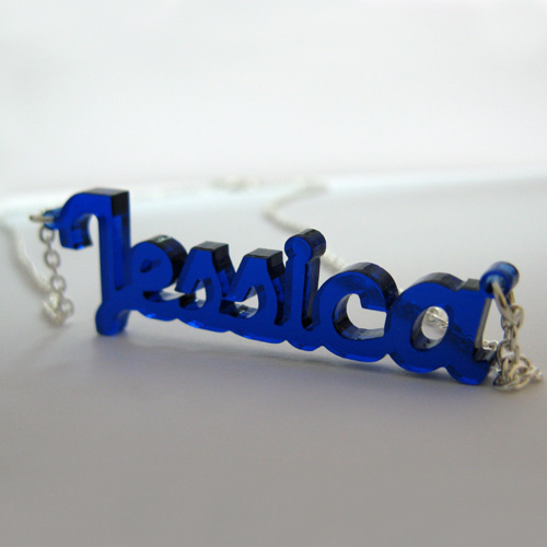 New York Style Colour Name Necklace - 1