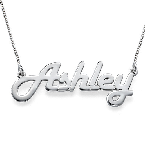 Stylish Personalised Silver Necklace