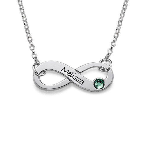 bae6f5eb2 Swarovski Infinity Necklace with Engraving | My Name Necklace AU