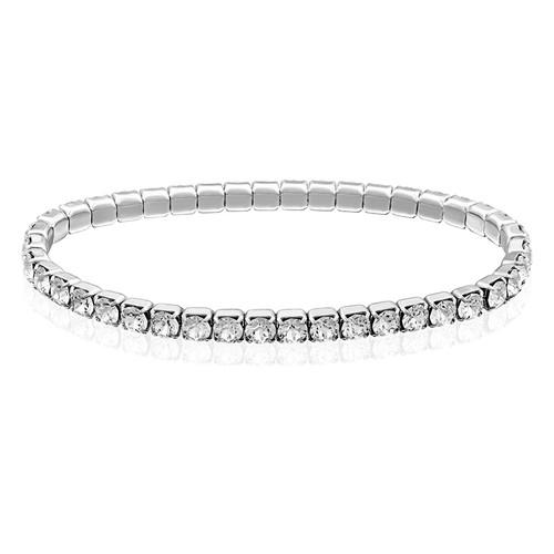 Tennis Bracelet with Swarovski Crystals