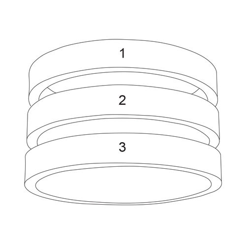 Three Name Ring in Silver - 5