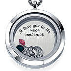 To the Moon and Back Floating Locket
