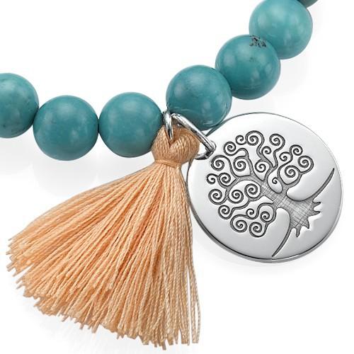 Tree of Life Yoga Bead Bracelet - 1