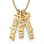 Vertical Name Necklace in 18ct Gold Plating