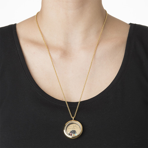 We Are Family Floating Locket with Gold Plating - 2