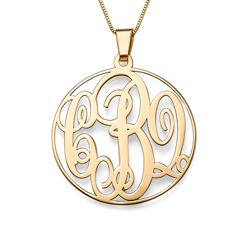 14ct Yellow Gold Monogrammed Necklace