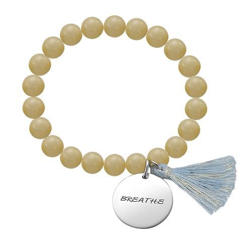Yoga Jewellery - Engraved Om Bead Bracelet - 2