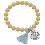 Yoga Jewellery - Engraved Om Bead Bracelet