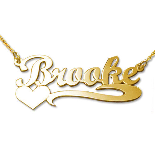 18ct Gold-Plated Heart Name Necklace