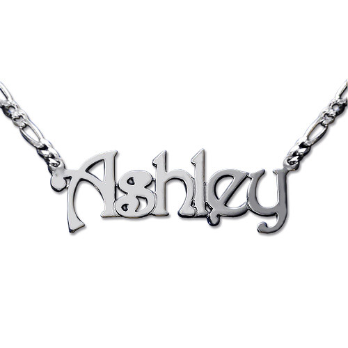 Double Thickness Sterling Silver Name Necklace