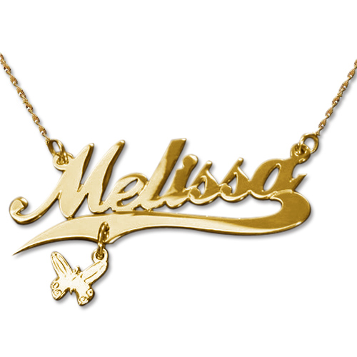 14ct Gold Charm Name Necklace