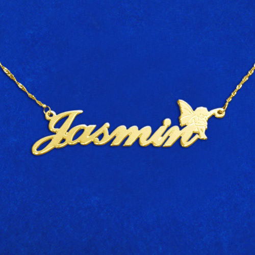 Personalised 14ct Gold Fairy Name Necklace