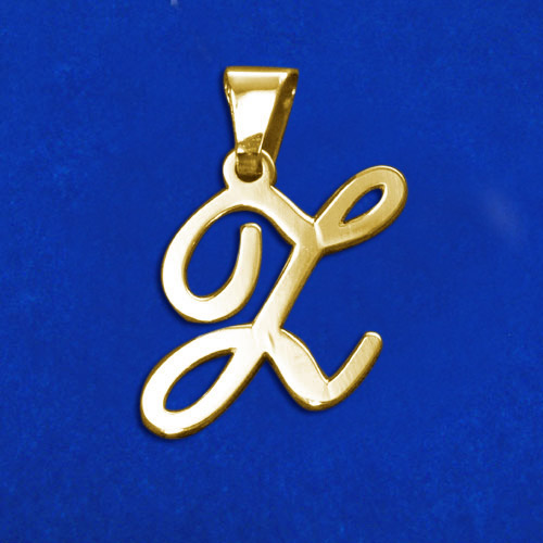 14ct Solid Gold Initials Pendant - Letter Z