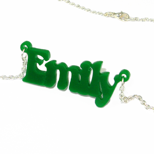 That 70's show Style Vinyl Crush Name Necklace - 1