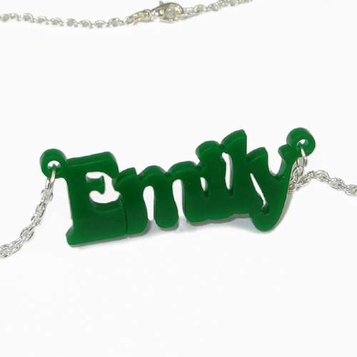 That 70's show Style Vinyl Crush Name Necklace - 2