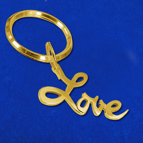 "18ct Gold Plated ""Love"" Keychain"