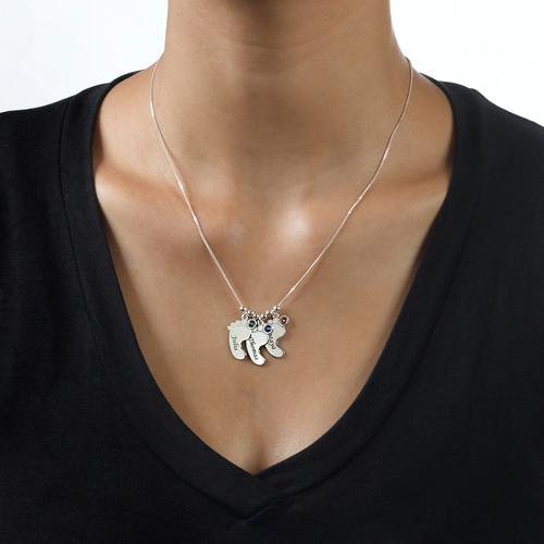 Mum jewellery - Baby Feet Necklace - 1