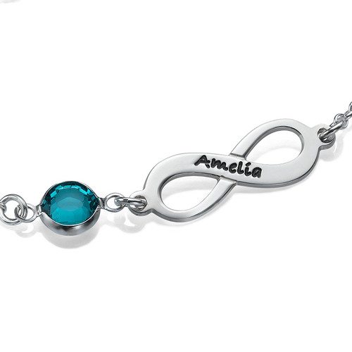 Infinity Birthstone Bracelet - 1
