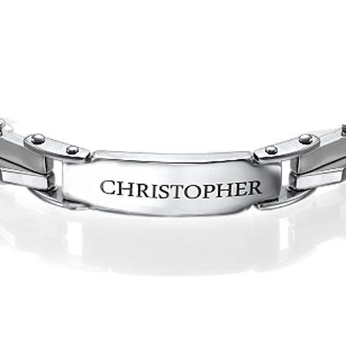 Engraved Stainless Steel Bracelet - 1
