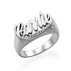 Sterling Silver Name Ring product photo