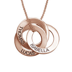 Russian Ring Necklace in Rose Gold Plating product photo