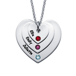 Birthstone Heart Necklace for Mums product photo