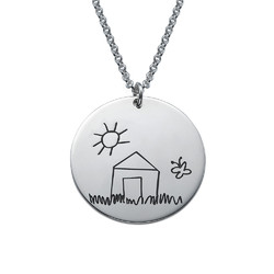 Disc Necklace for Mums with Kids Drawings product photo