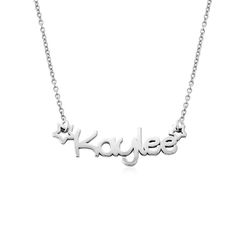 Girls Name Necklace in Sterling Silver product photo