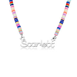Rainbow Magic Girls Name Necklace in Sterling Silver product photo