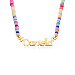 Rainbow Magic Girls Name Necklace in Gold Plating product photo