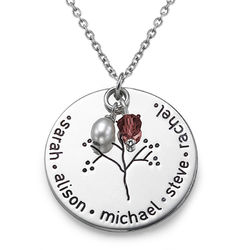 Sterling Silver Family Tree Necklace product photo