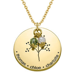 Family Tree Necklace with Gold Plating product photo