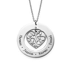 Heart Family Tree Necklace product photo